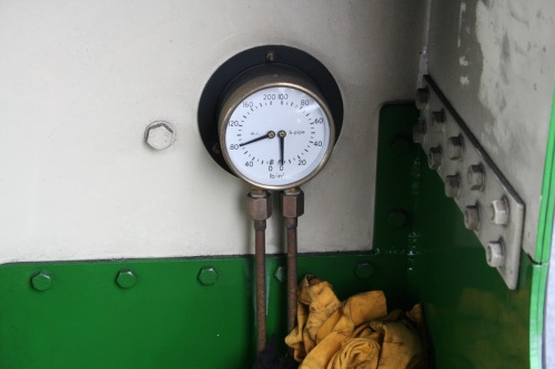 And I think this gauge is for water pressure