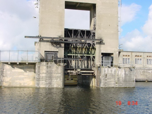 The top gate from outside the lock