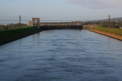 The power station seen from Blackwater Bridge