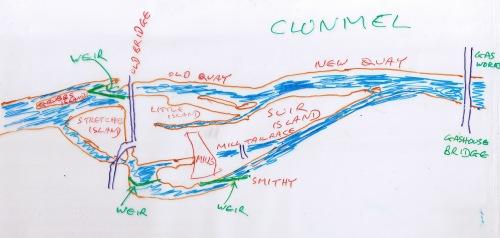 Clonmel sketchmap