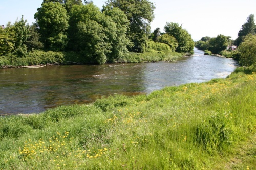 Looking downstream to the third weir (2009)