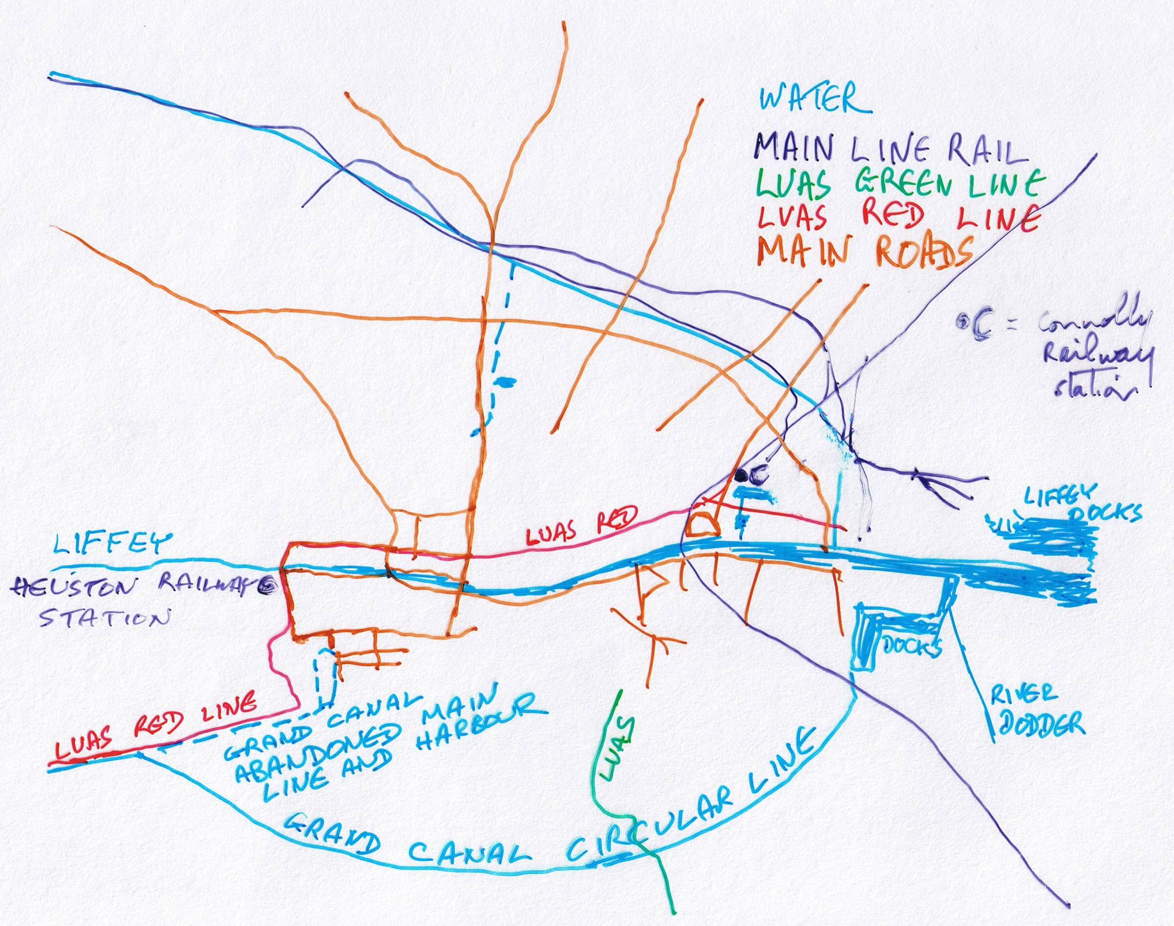 Sketch Map Of Ireland.Visit Dublin Walk Canals Drink Beer Irish Waterways History