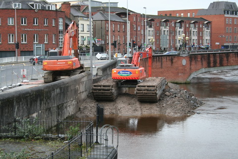 The two excavators
