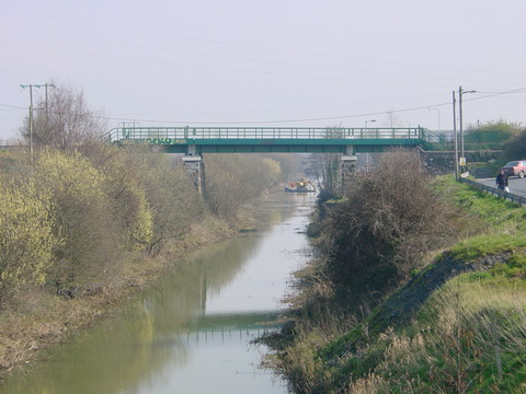 Dredging in March 2007. Note the steep sides of the canal
