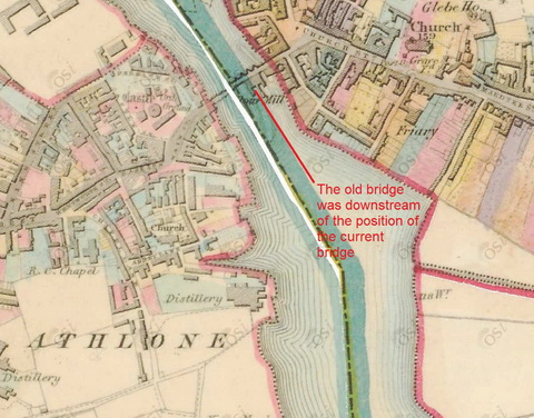 Map Of Ireland Showing Athlone.Athlone Canal Irish Waterways History