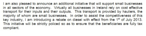 From Michael Noonan's Financial Statement