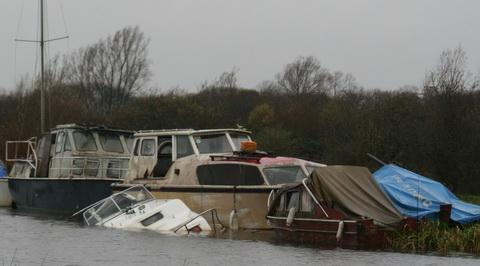 Unidentified GRP boat