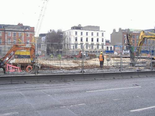 looking north from burgh quay