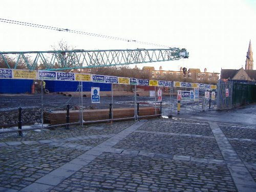 looking towards where the large graving dock used to be (Paul Quinn)