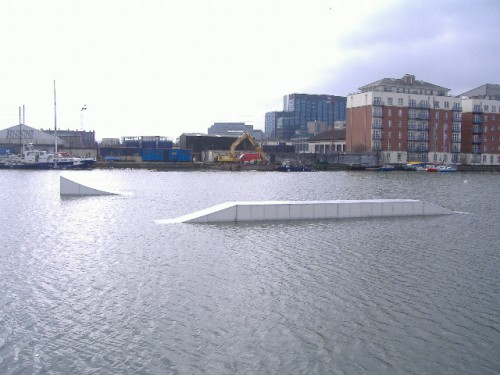 looking south from hanover quay at ramps.