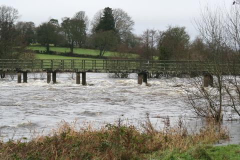 The footbridge on 1 January 2014