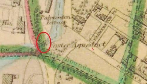 Possible site of drawbridge