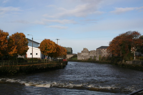 Looking upstream towards the bridge in Askeaton