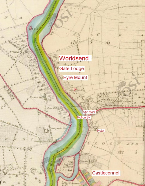"Castleconnell and Worldsend, Co Limerick (OSI 6"" ~1840)"