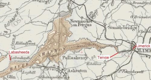 Labasheeda, Tervoe and Limerick (OSI ~1900)