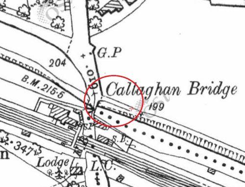 Clonsilla (Callaghan) Bridge (OSI ~1900)